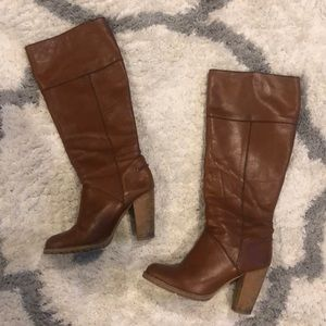H&M Tall Tan Leather Boots